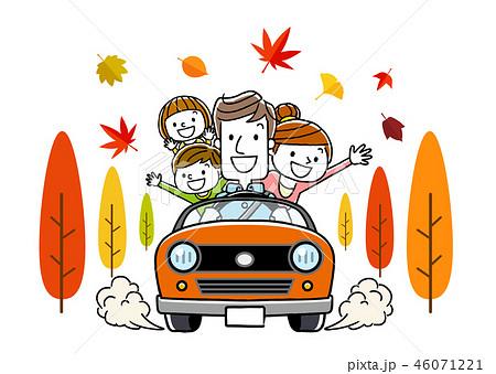 家族で秋のドライブ 46071221