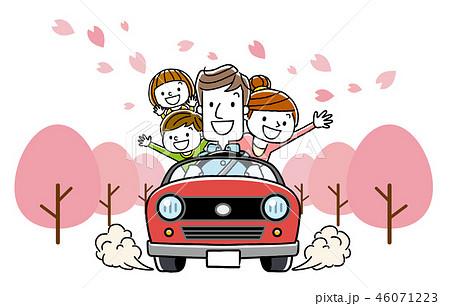 家族で春のドライブ 46071223
