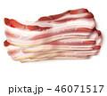 ベーコン ブタ肉 ポークのイラスト 46071517