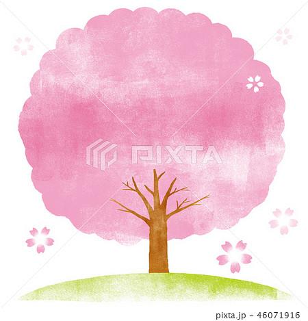 桜の木 水彩イラスト 46071916