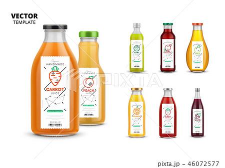 Fresh juice packaging mockup set 46072577