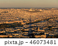 Shadow of the eiffel tower is falling on Paris  46073481