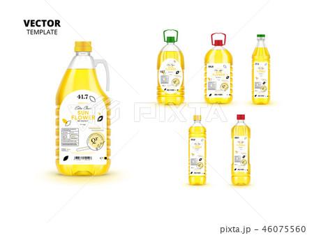 Extra virgin sunflower oil canned plastic bottles 46075560