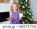 幼い ブロンド クリスマスの写真 46075758
