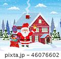 クリスマス 住宅 住居のイラスト 46076602