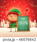クリスマス エルフ 標識のイラスト 46076642