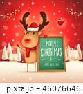 クリスマス レインディア 標識のイラスト 46076646