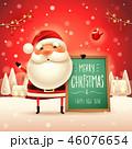 クリスマス サンタ 標識のイラスト 46076654
