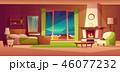 ヴィラ 別邸 ベッドルームのイラスト 46077232