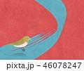 和モダンな背景素材 ウグイス 鳥 46078247