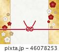 水引 背景 梅のイラスト 46078253