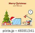 クリスマス オフィス 近代的のイラスト 46081341