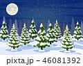 ゆき スノー 雪のイラスト 46081392
