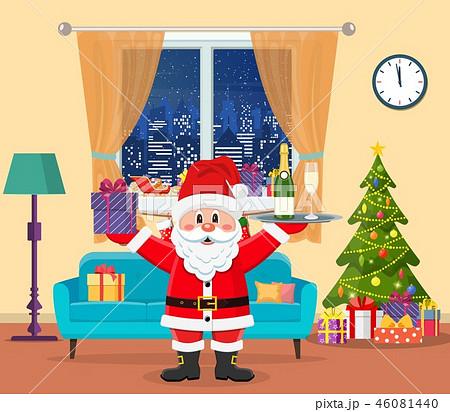 Christmas room interior. 46081440