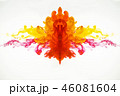 Abstract pattern of droplets of ink mixing under 46081604