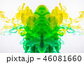 Colourful figure of acrylic ink, abstract pattern 46081660
