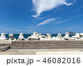 Breakwater structure with concrete blocks  46082016