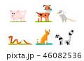 動物 ねずみ ネズミのイラスト 46082536