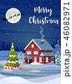 クリスマス 樹木 樹のイラスト 46082971