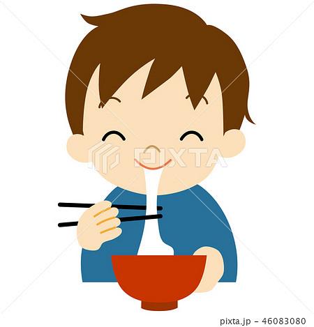 お餅を食べる男の子 46083080