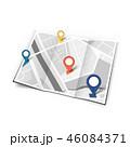 地図 pin ピンのイラスト 46084371