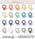 地図 pin ピンのイラスト 46084378