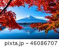 富士山 紅葉 秋の写真 46086707