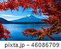 富士山 紅葉 秋の写真 46086709