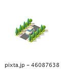 スポーツ用多目的車 アイソメトリック アイソメのイラスト 46087638