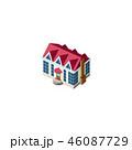 小屋 住居 赤のイラスト 46087729