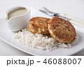 カツレツ 食 料理の写真 46088007