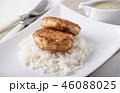 カツレツ 食 料理の写真 46088025