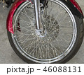 Beautiful nickel plated front wheel of a red 46088131