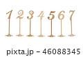 ホワイト 白 ウッドの写真 46088345