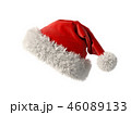 Santa Claus red hat isolated on white background 3D rendering 46089133