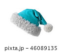 Santa Claus blue hat isolated on white background 3D rendering 46089135