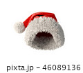 Santa Claus red hat isolated on white background 3D rendering 46089136