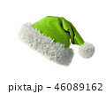 Santa Claus green hat isolated on white background 3D rendering 46089162