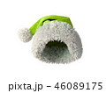 Santa Claus green hat isolated on white background 3D rendering 46089175
