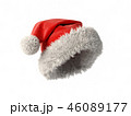 Santa Claus red hat isolated on white background 3D rendering 46089177