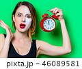 女性 メス 置時計の写真 46089581