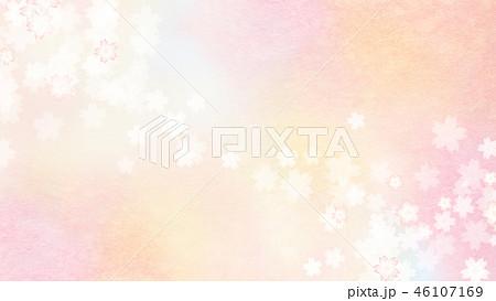 和-和風-和柄-背景-和紙-春-桜-ピンク 46107169