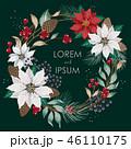 クリスマス フローラル リースのイラスト 46110175