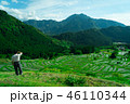 稲 水田 山の写真 46110344