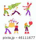 クリスマス 人々 人物のイラスト 46111677
