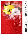 亥 亥年 菊のイラスト 46112057