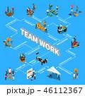 チームワーク チーム 仕事のイラスト 46112367