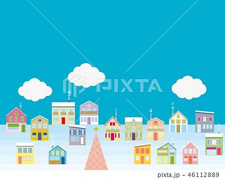 街並み クリスマス 雲 46112889