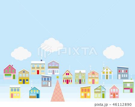 街並み クリスマス 雲 46112890
