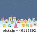 街並み クリスマス 星のイラスト 46112892